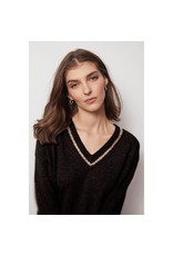 Autumn Cashmere Deep V W/Rings R11755