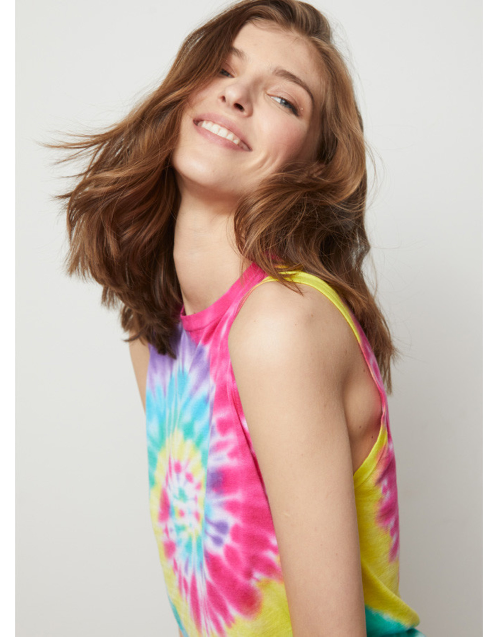 Autumn Cashmere Tie Dye Muscle Tee NF11765