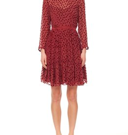 REBECCA TAYLOR L/S Velvet Dot Dress