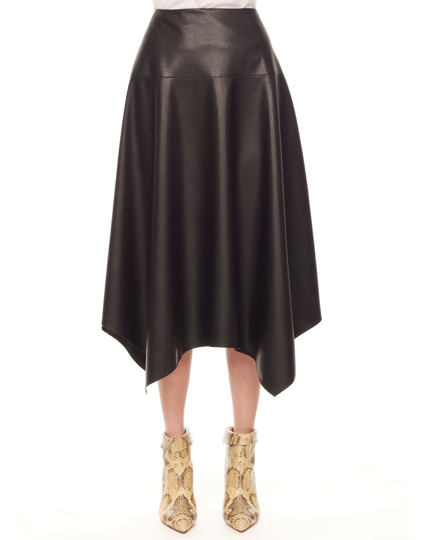 REBECCA TAYLOR Vegan Leather Skirt Size 10