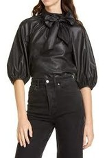 REBECCA TAYLOR Vegan Leather Top