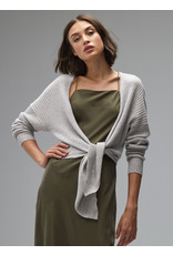Autumn Cashmere RT11903 Tie Front Rib Cardi