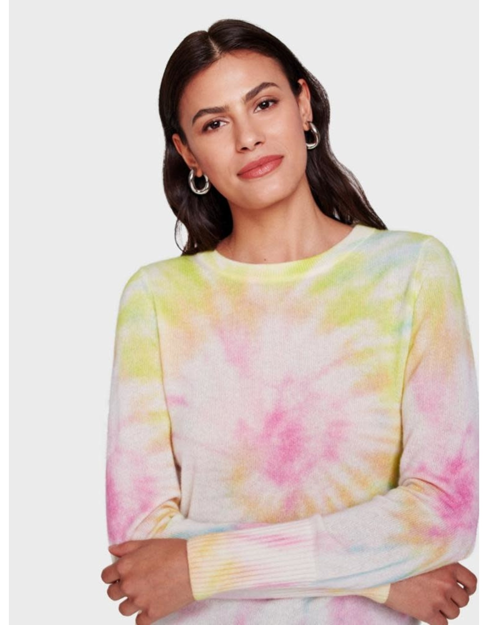 White + Warren 18747B Tie Dye Essential Crew