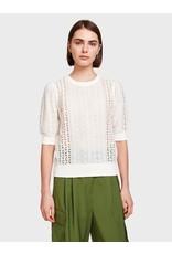 White + Warren K18758 Lace Mix Top
