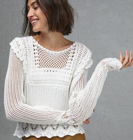 Autumn Cashmere Pointelle Crochet Crew