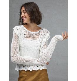 Autumn Cashmere N11961 Pointelle Crochet Crew