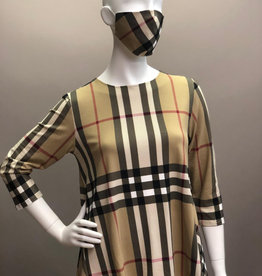 Andria Lieu Short Joanne Burberry Plaid Top