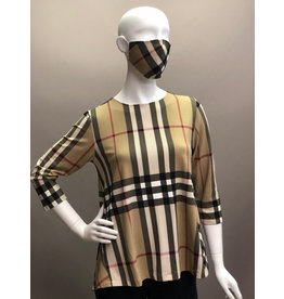Short Joanne Burberry Plaid Top