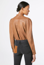 FRAME Charlie Top Leather