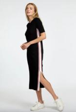 Autumn Cashmere Short Sleeve Midi Dress w/Racing stripes PE11606