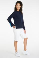 Autumn Cashmere Button Sleeve Hoodie R12253