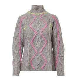 Autumn Cashmere Whipstitch Cable Mock RG12153