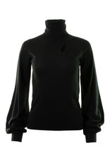 Autumn Cashmere Juliette Sleeve Keyhole Turtleneck RFF12124