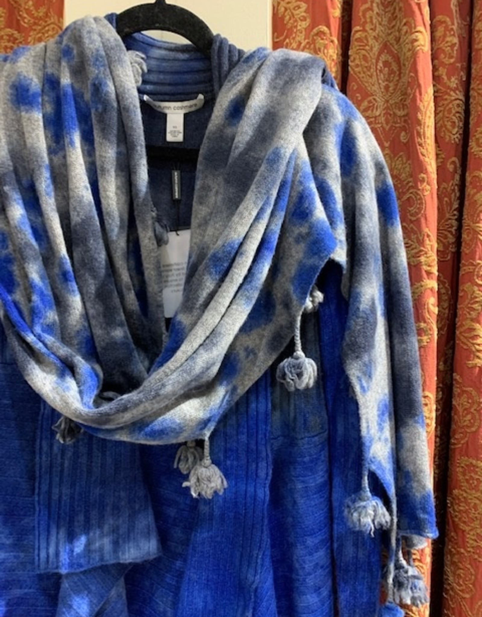 Autumn Cashmere TieDye Tassel Wrap