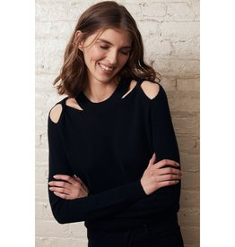 Autumn Cashmere Twist Shoulder Crew MED