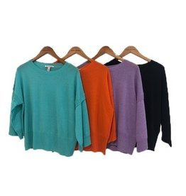 Autumn Cashmere Elbow Slv Crew