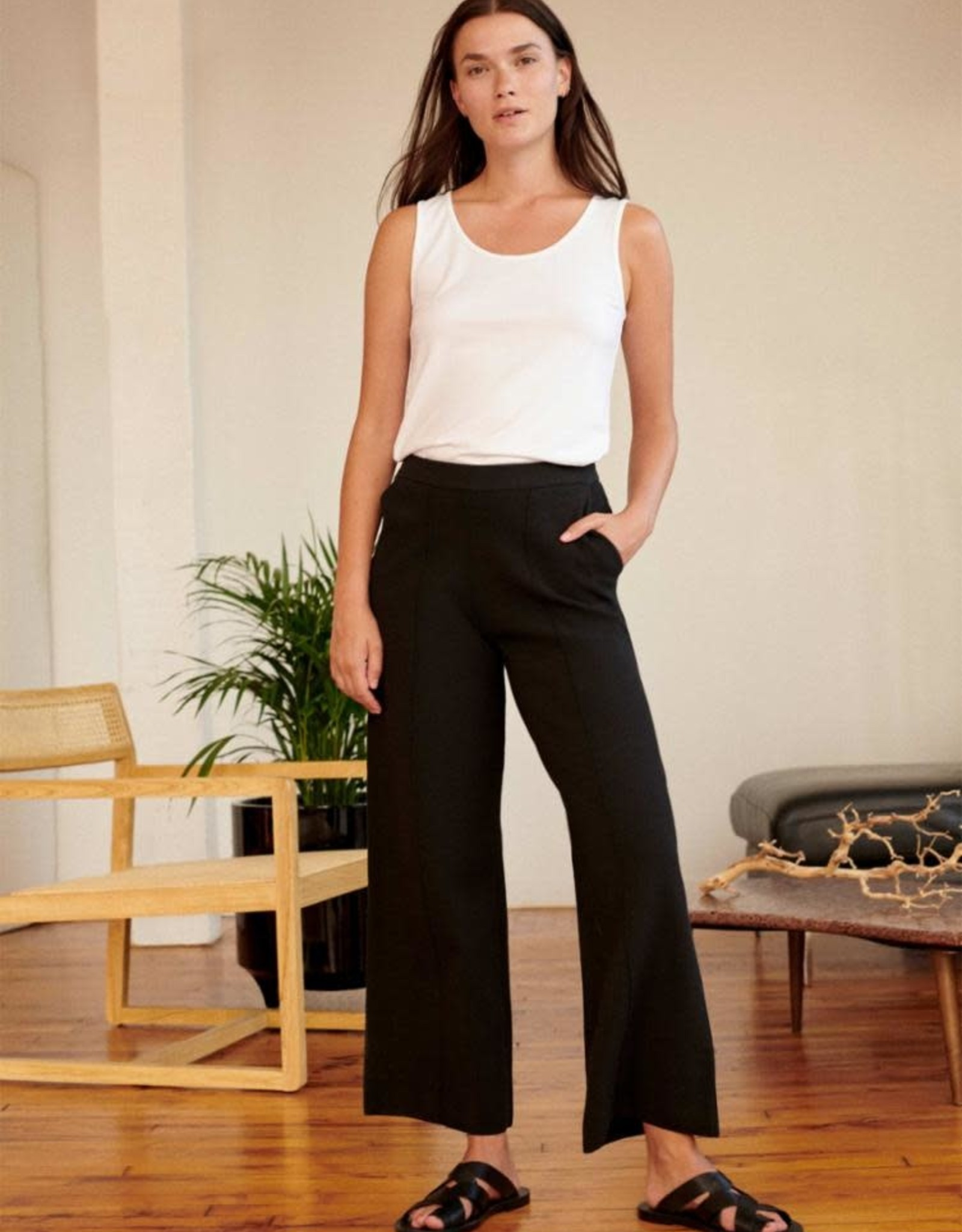 White + Warren Pull On Cropped Pant 19226