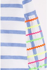 VILAGALLO CMSURS1307 Stripe Blouse Bell