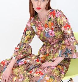 VILAGALLO Tyne Dress in Granadine