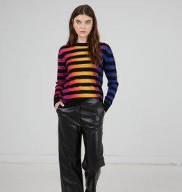Autumn Cashmere Ombre Printed Stripe Crew RT12422