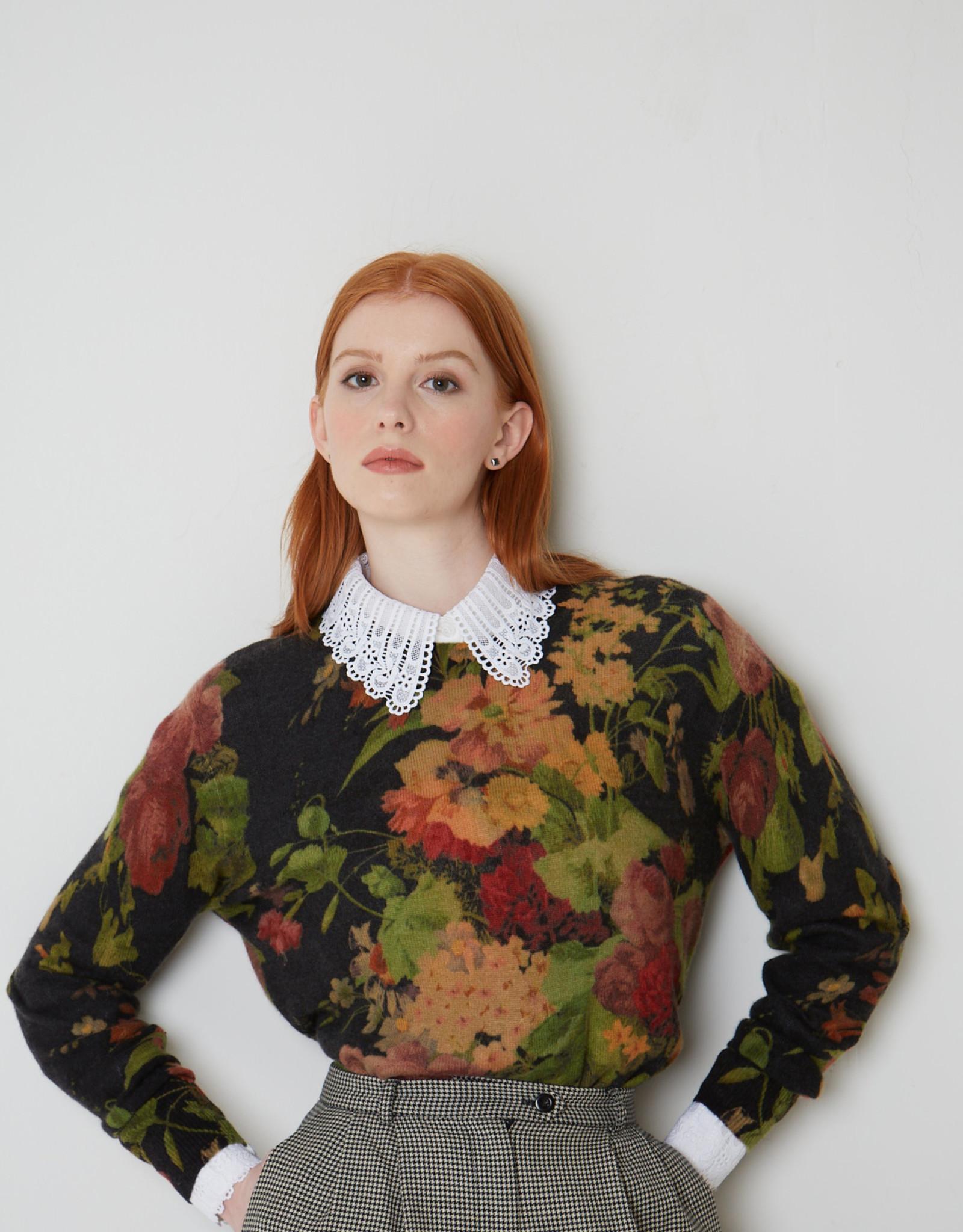 Autumn Cashmere Vintage Floral Print Crew R12481