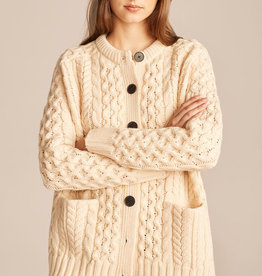 REBECCA TAYLOR Cable Knit Oversized Cardigan