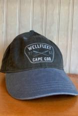 Ouray Wellfleet Crossed Oars Baseball Cap - Charcoal / Steel