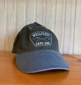 Ouray Wellfleet Crossed Oars Baseball Cap - Charcoal / Steel