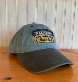 Ouray Wellfleet Fish Patch Baseball Cap -  Harbor / Charcoal