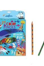 Eeboo In the Sea 24 Color Pencils in Paper