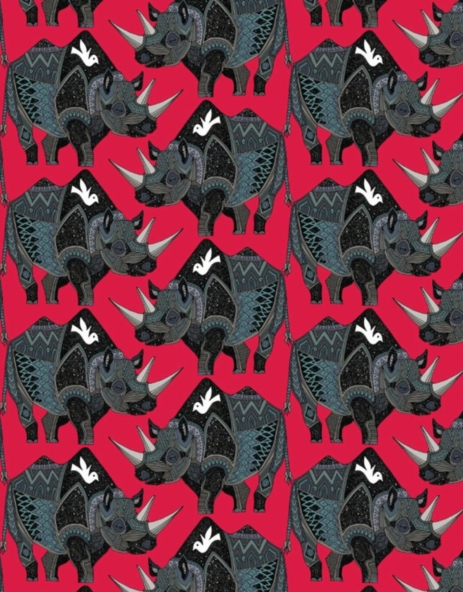 Pomegranite Sharon Turner: Rhinoceros Red Designer Gift Wrap