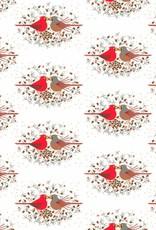 Pomegranite Charley Harper: Cardinals Designer Gift Wrap