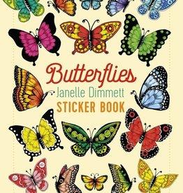 Pomegranite Janelle Dimmett: Butterflies Sticker Book