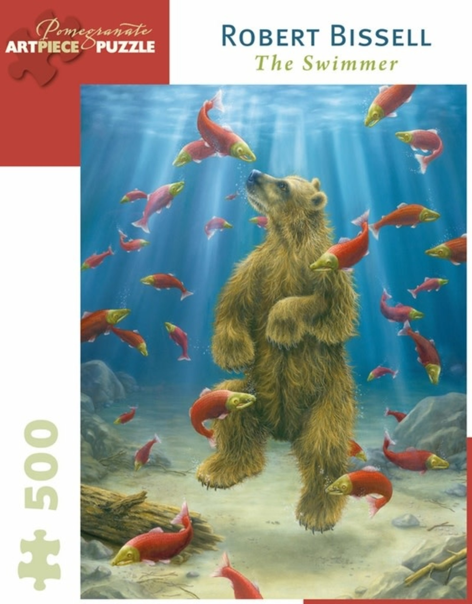 Pomegranite Puzzles - Robert Bissell: The Swimmer 500-Piece