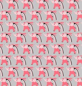 Pomegranite Pink Elephants Designer Gift Wrap