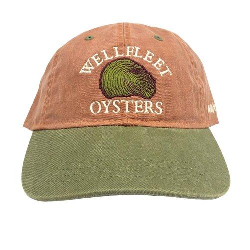 Wellfleet  Oysters Baseball Cap -  Rust / Bark