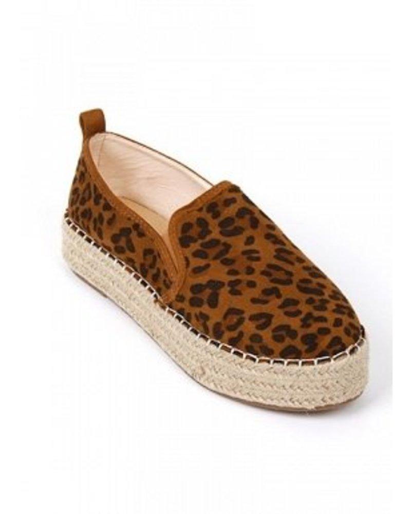 Leopard Espadrille Slip-ons