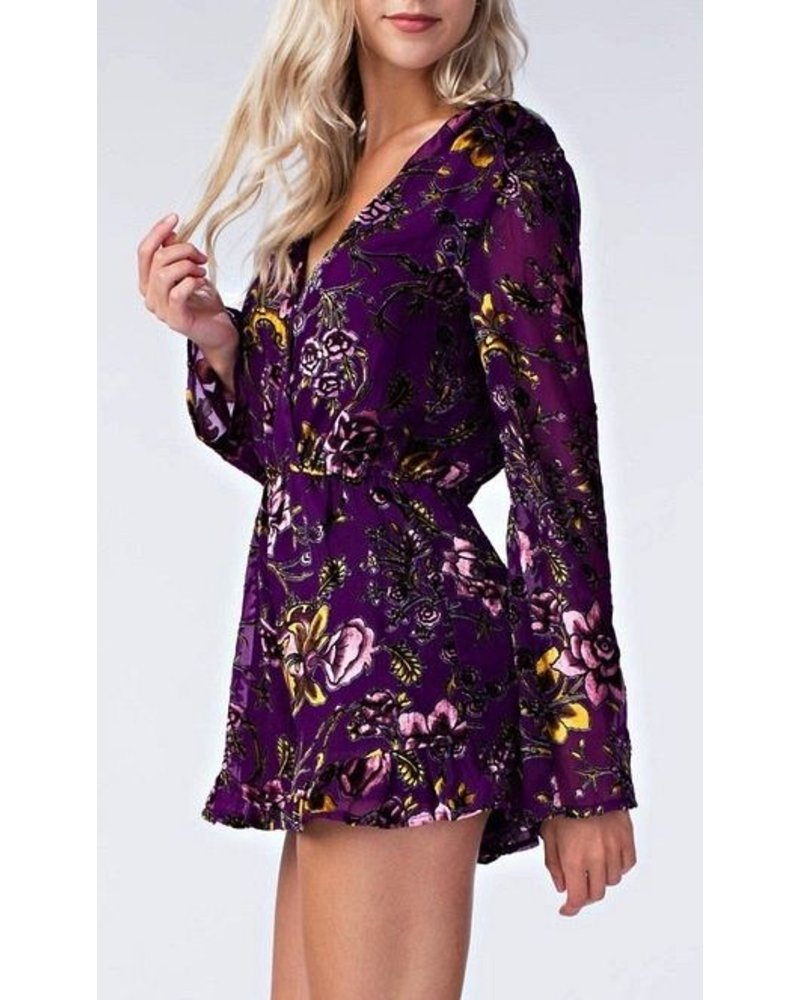 Just A Reminder Velvet Romper