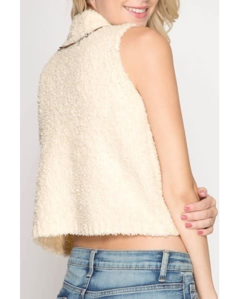 She & Sky Gone Baby Sleeveless Sweater