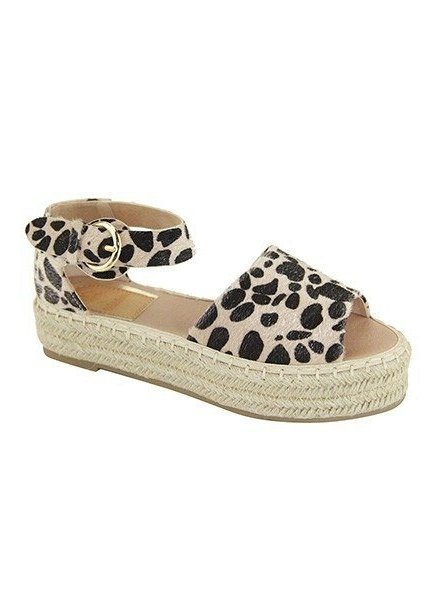 Leopard Espadrille Sandal