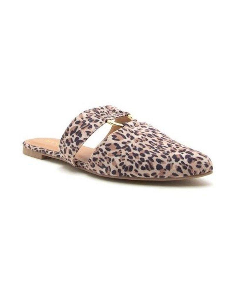 Leopard Mule Slide