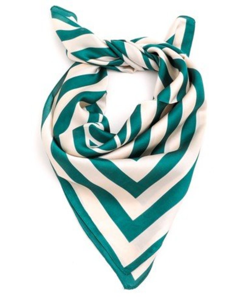 Green Stripe Scarf