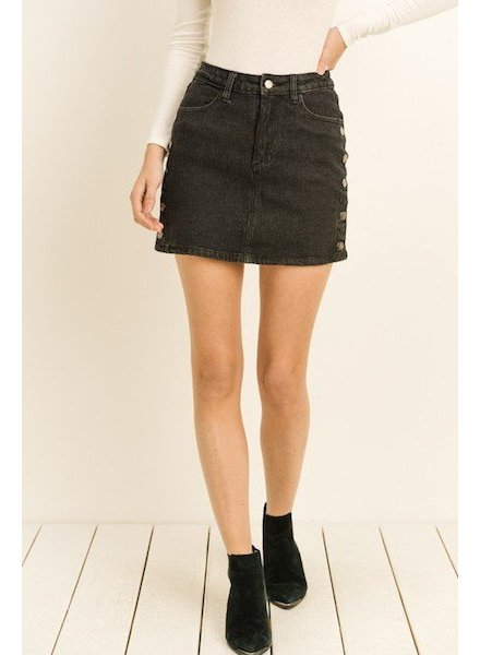 Figured Out Denim Skirt