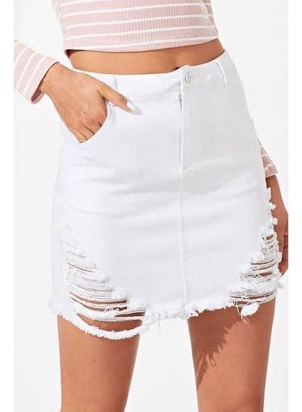 Leaving Town Denim Skirt