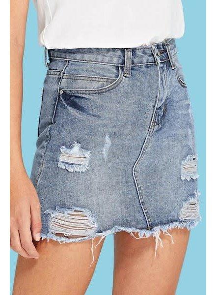 Soon Forgotten Denim Skirt