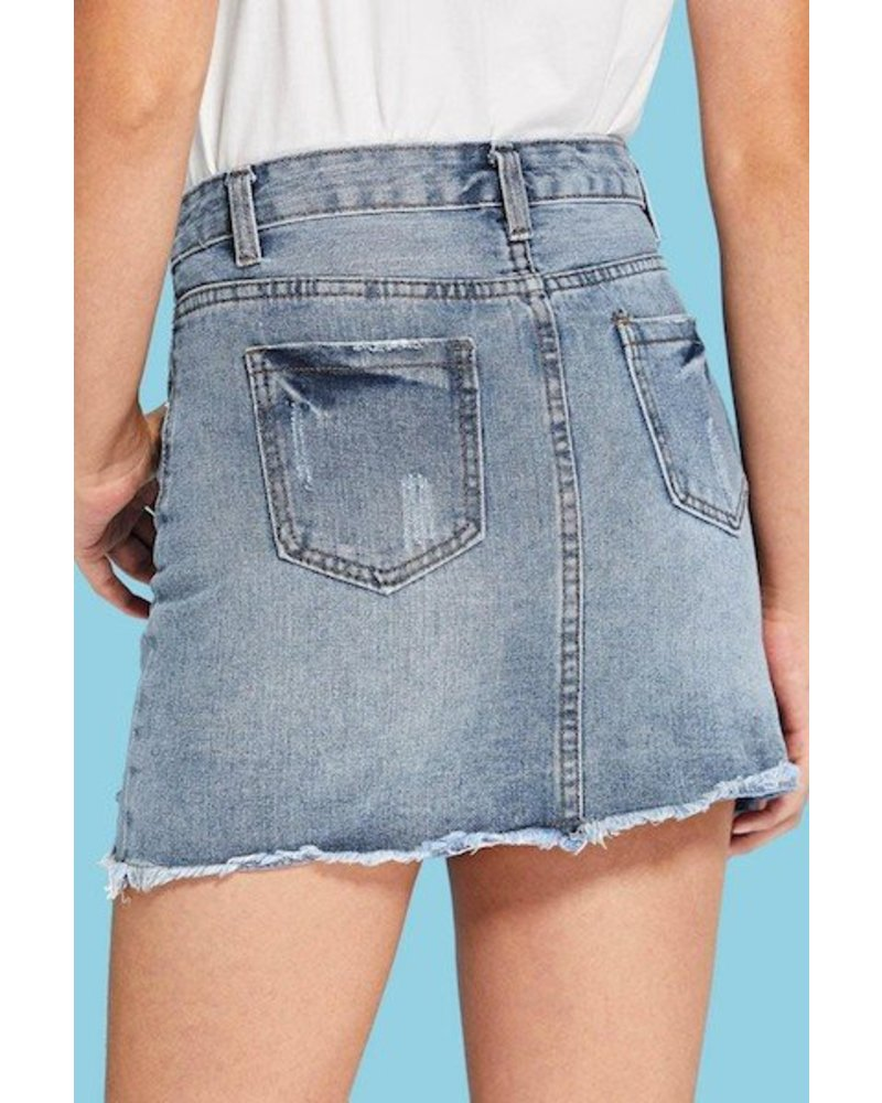 Soon Forgotten Denim Skirt