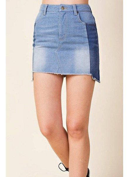 peach love No Stopping Us Denim Skirt