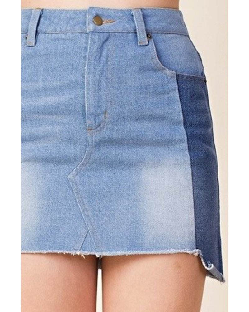 peach love No Stopping Us Denim Skirt