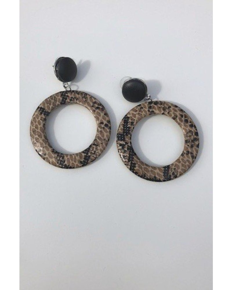 Python Hoop Earrings