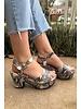 Snake  Platform Sandal